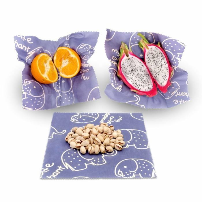 film alimentaire lavable diy pour emballer les fruits
