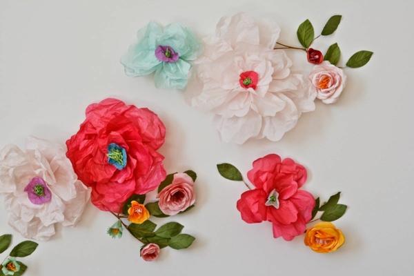 idée activité manuelle pâques diy fleurs de printemps en papier
