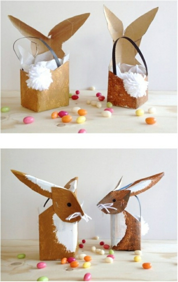 idée activité manuelle pâques diy lapin en boîte de lait