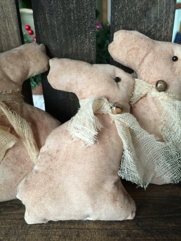 idée activité manuelle pâques diy lapin en textile