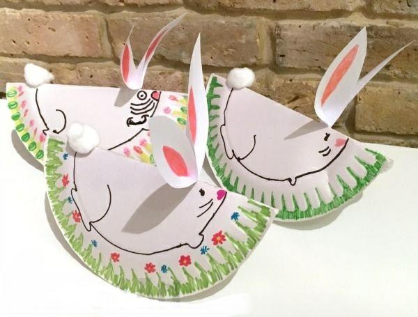 idée activité manuelle pâques diy lapins en papier