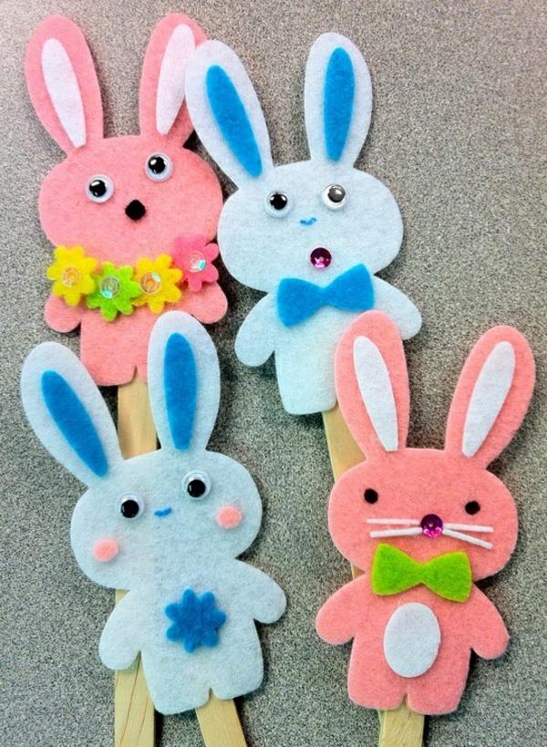 idée activité manuelle pâques diy lapins feutre artisanal