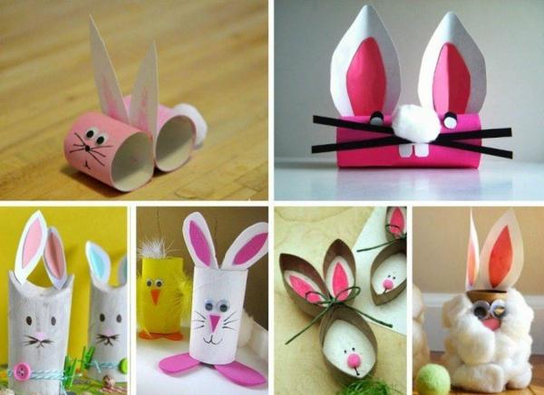 idée activité manuelle pâques diy lapins rouleau de papier toilette