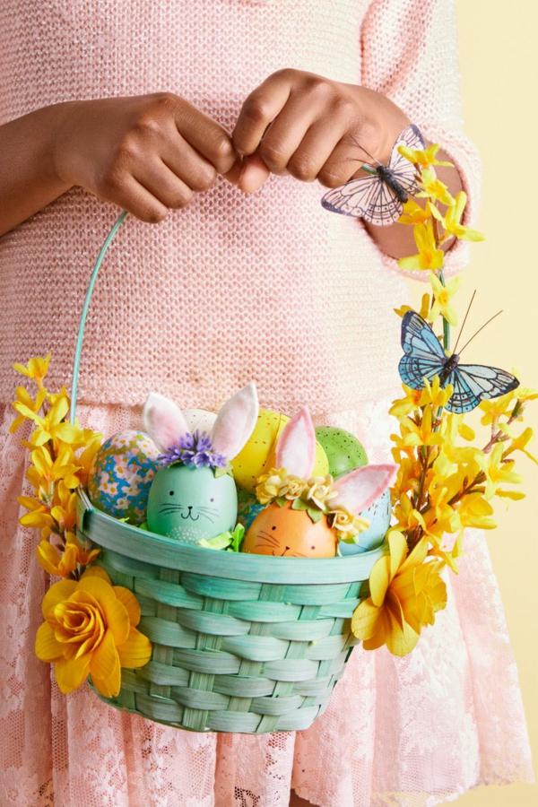 idée activité manuelle pâques diy oeufs décorés panier de pâques