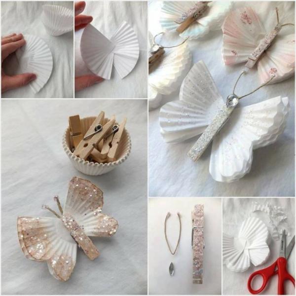 idée activité manuelle pâques diy papillon en moule à muffins papier