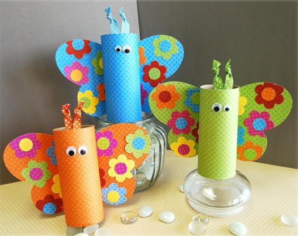 idée activité manuelle pâques diy papillons en rouleaux papier toilette papier craft