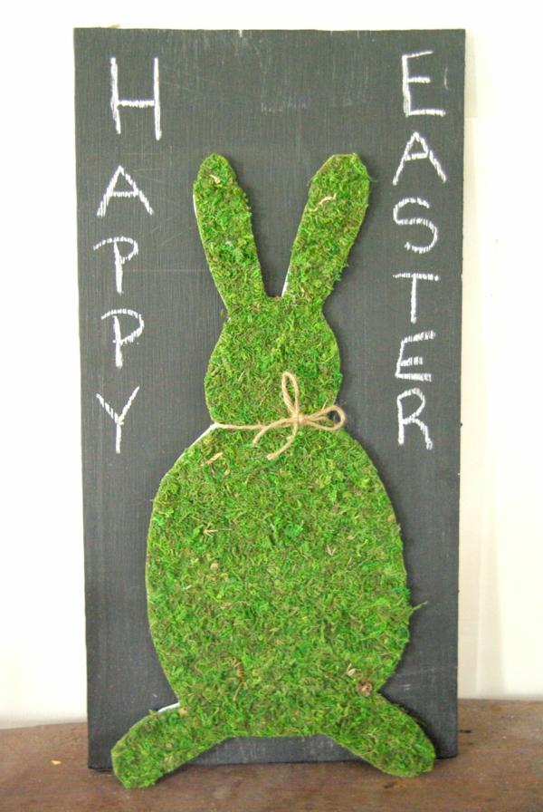 idée activité manuelle pâques diy tableau lapin en mousse