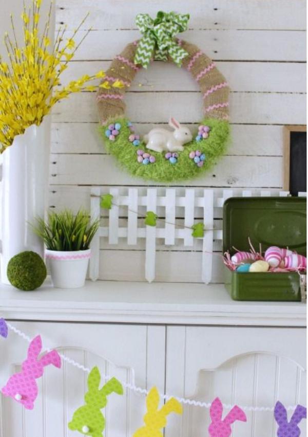 idée déco balcon pour Pâques un coin de Pâques