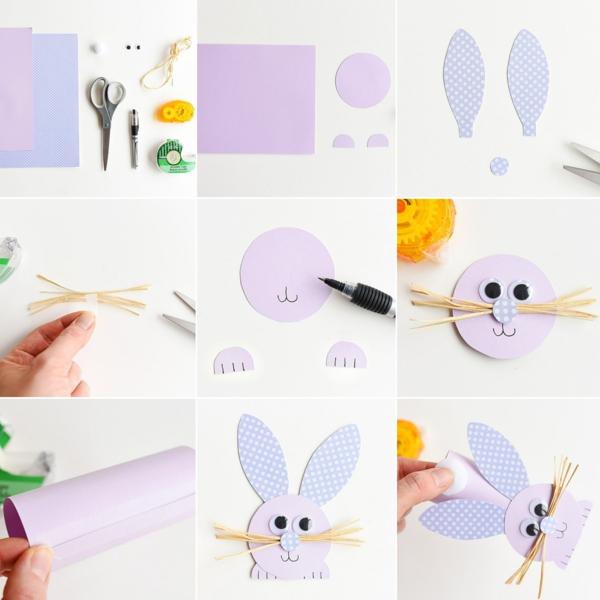 idée de bricolage pâques maternelle lapin en papier
