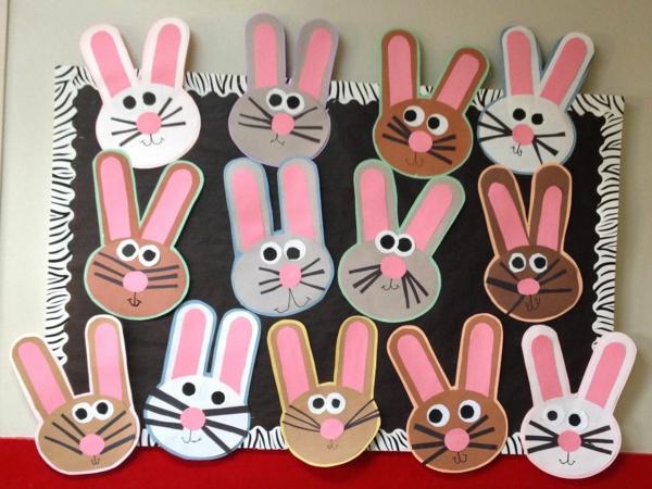 idée de bricolage pâques maternelle lapins de pâques en papier