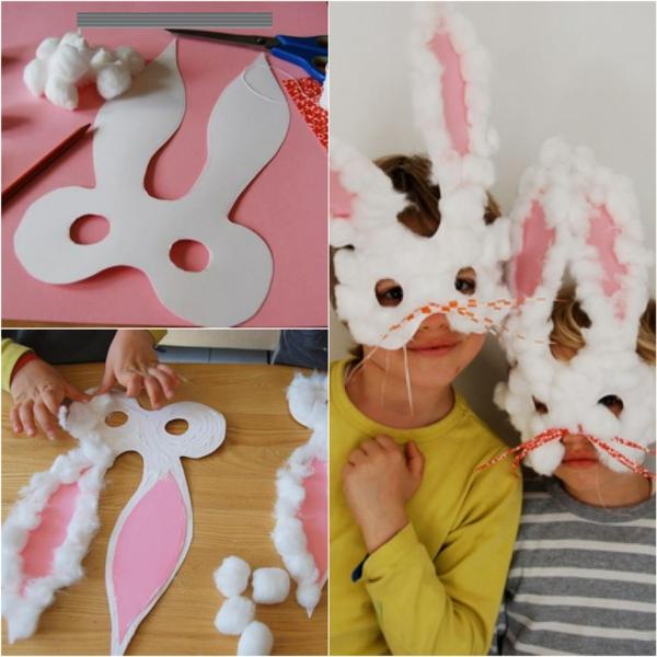 idée de bricolage pâques maternelle masque lapin
