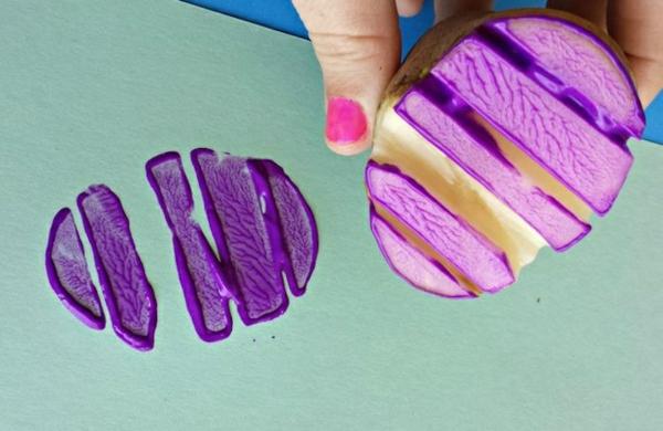 idée de bricolage pâques maternelle tampon encreur pomme de terre