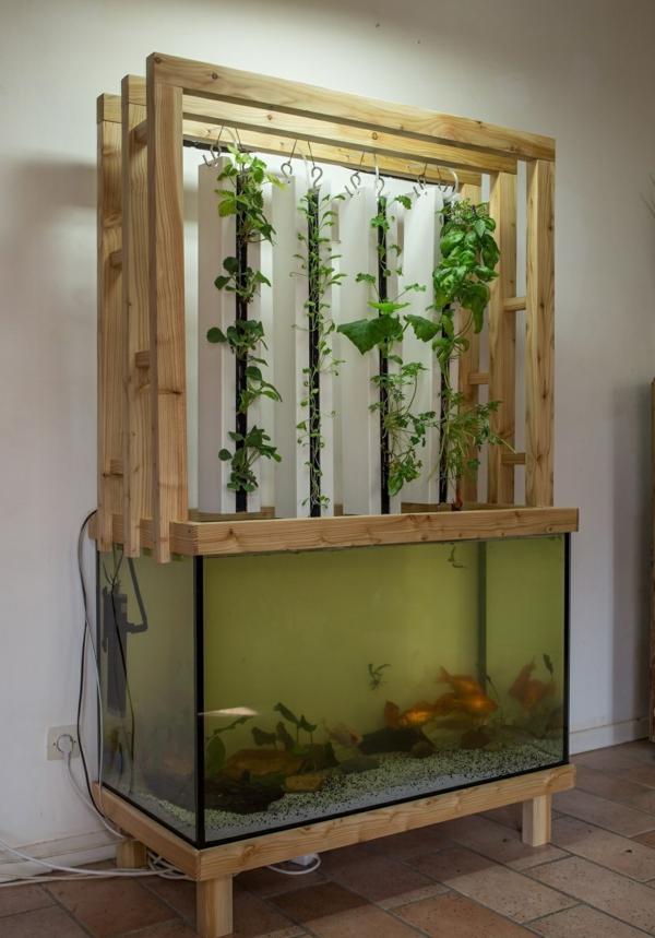 idée de système aquaponique vertical