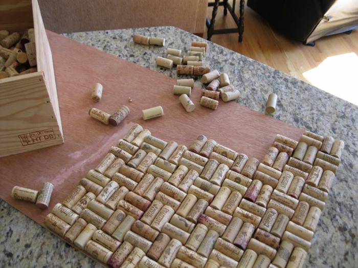 idée de tapis unique avec bouchon de liège