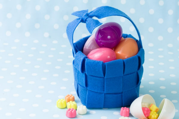 idée facile de panier de Pâques