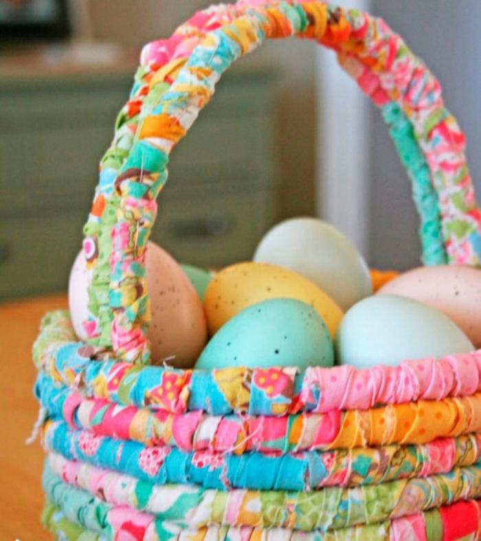 idée facile panier de Pâques