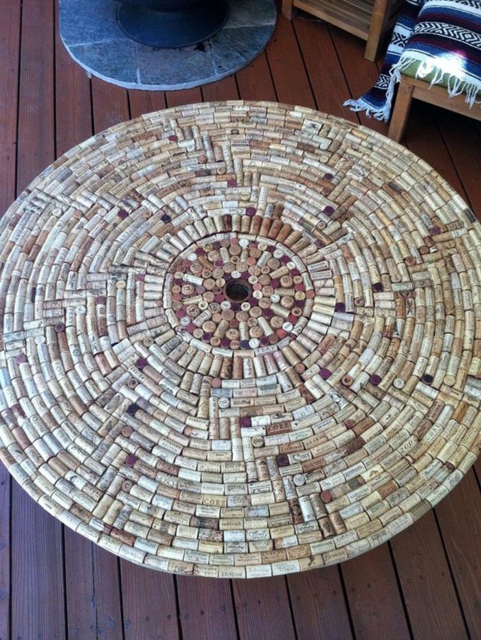 idée tapis avec bouchon de liège