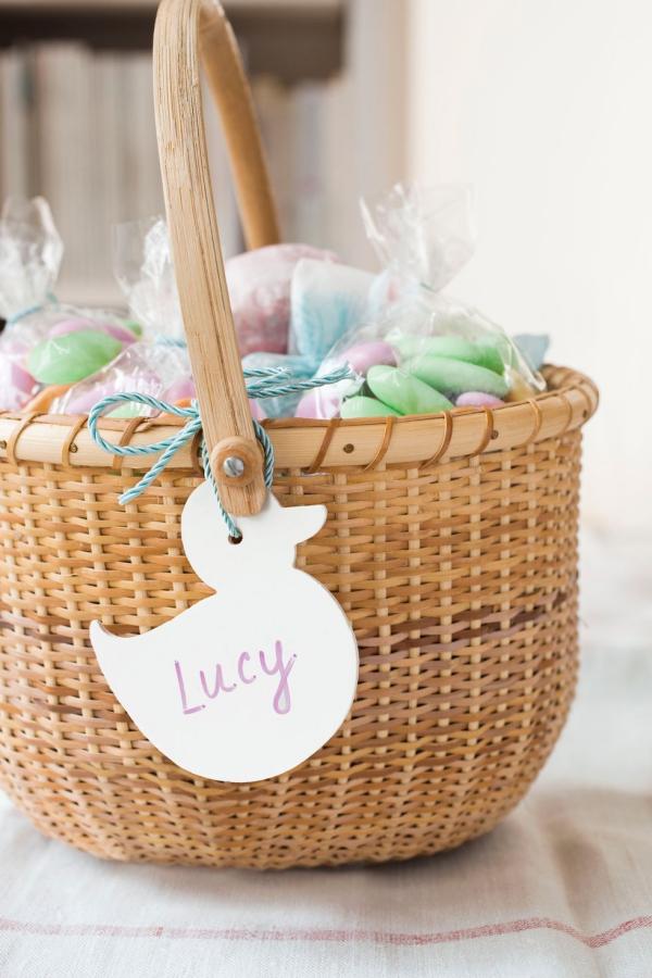 idées bricolage de Pâques maternelle étiquettes de nettoyage