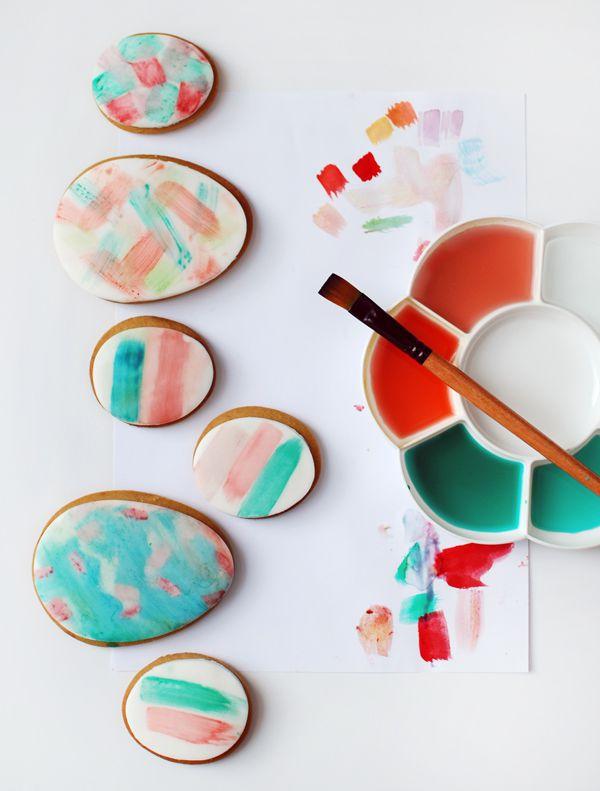 idées bricolage de Pâques maternelle biscuits colorés
