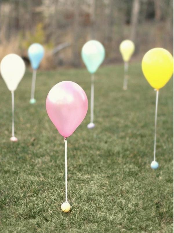 idées bricolage de Pâques maternelle chasse au ballons