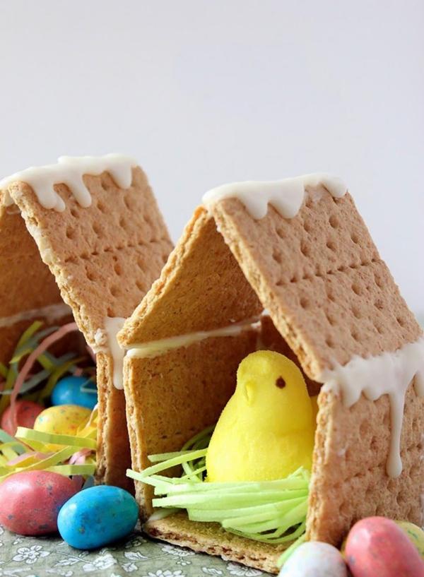 idées bricolage de Pâques maternellepetites maisonnettes