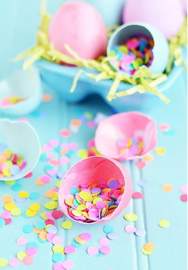 idées bricolage de Pâques maternelleplein de confettis