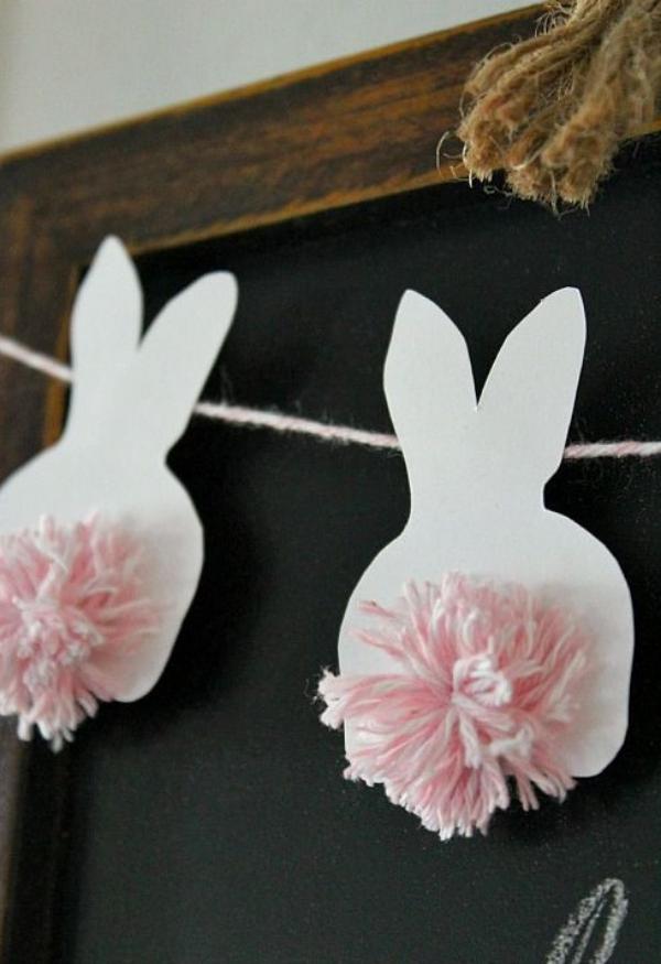 idées bricolage de Pâques maternellequeues de lapins
