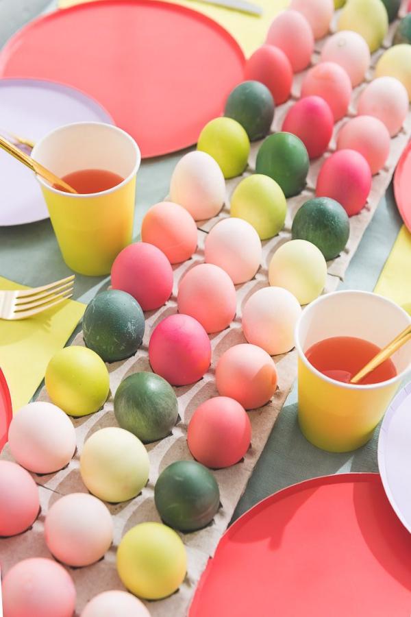 idées bricolage de Pâques maternelleun chemin de table