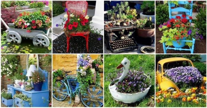 idées originales de déco jardin récup