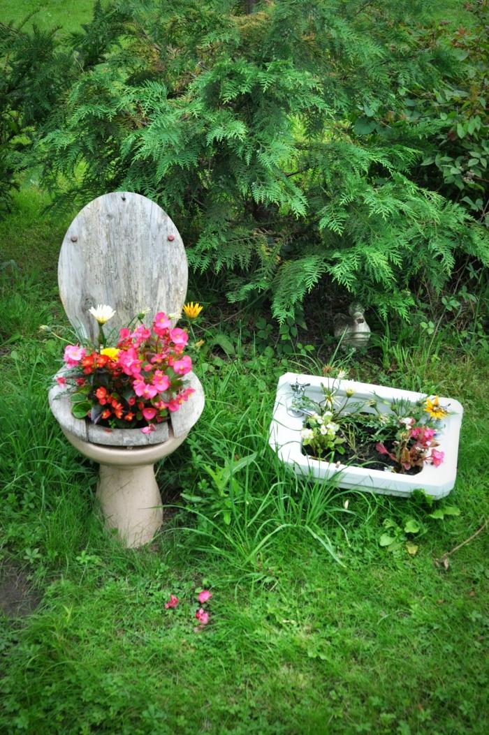 jardinières idées de déco jardin récup