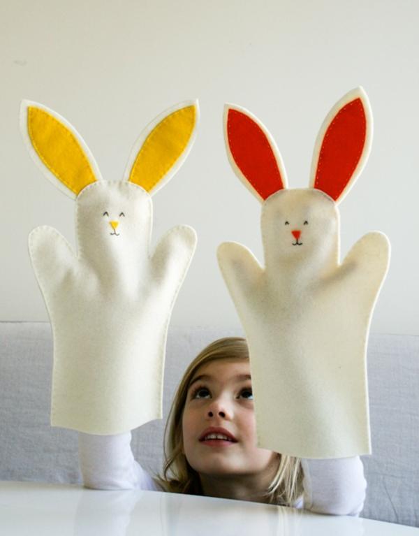 lapin de pâques à faire soi-même en textile