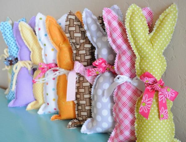lapin de pâques diy textile ruban