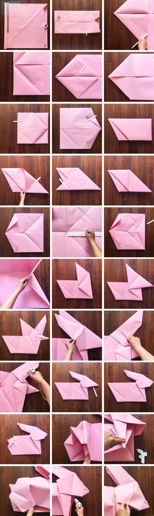 lapin de pâques origami diy technique