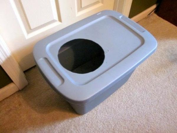 meuble cache litière boîte en plastique avec trou