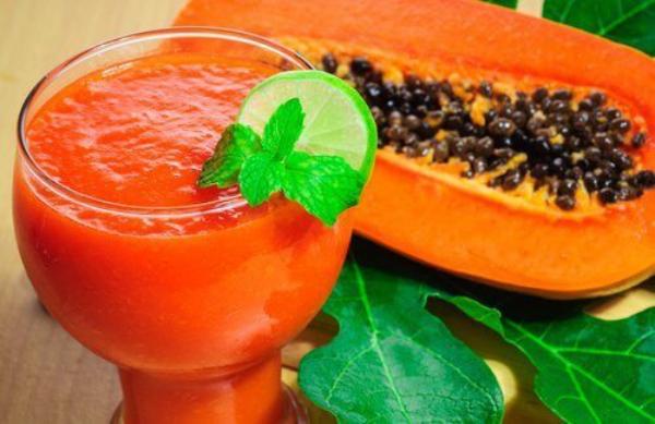 nettoyage du côlon par des plantes du papaye