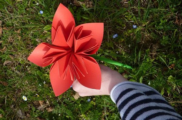 origami fleurs et animaux de printemps facile à plier