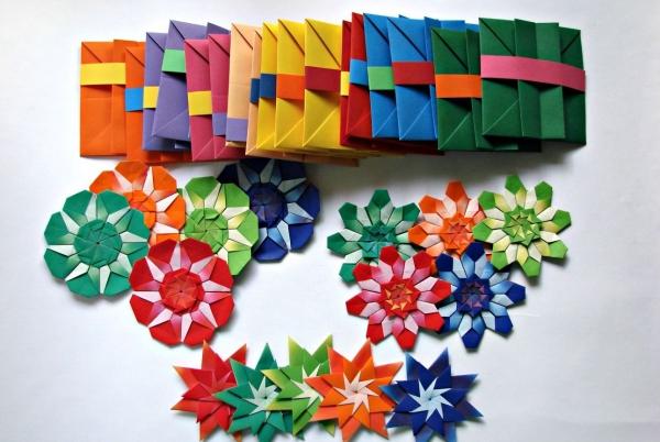 origami fleurs et animaux de printemps fleurs en toutes les couleurs
