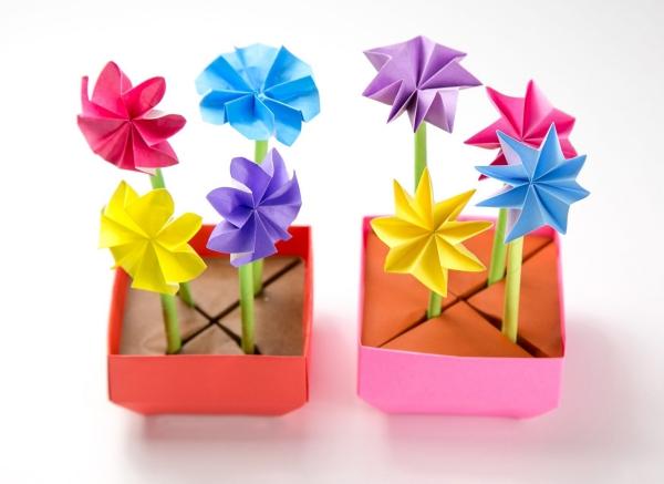 origami fleurs et animaux de printemps fleurs faciles