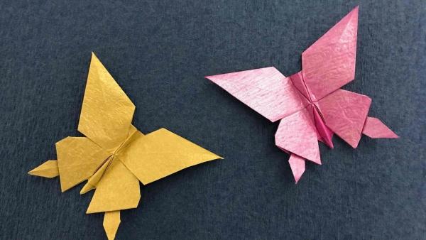 origami fleurs et animaux de printemps jolis papillons