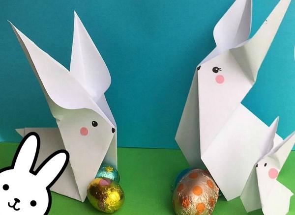 origami fleurs et animaux de printemps lapins et oeufs