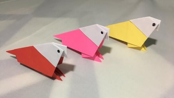 origami fleurs et animaux de printemps oiseaux sympas