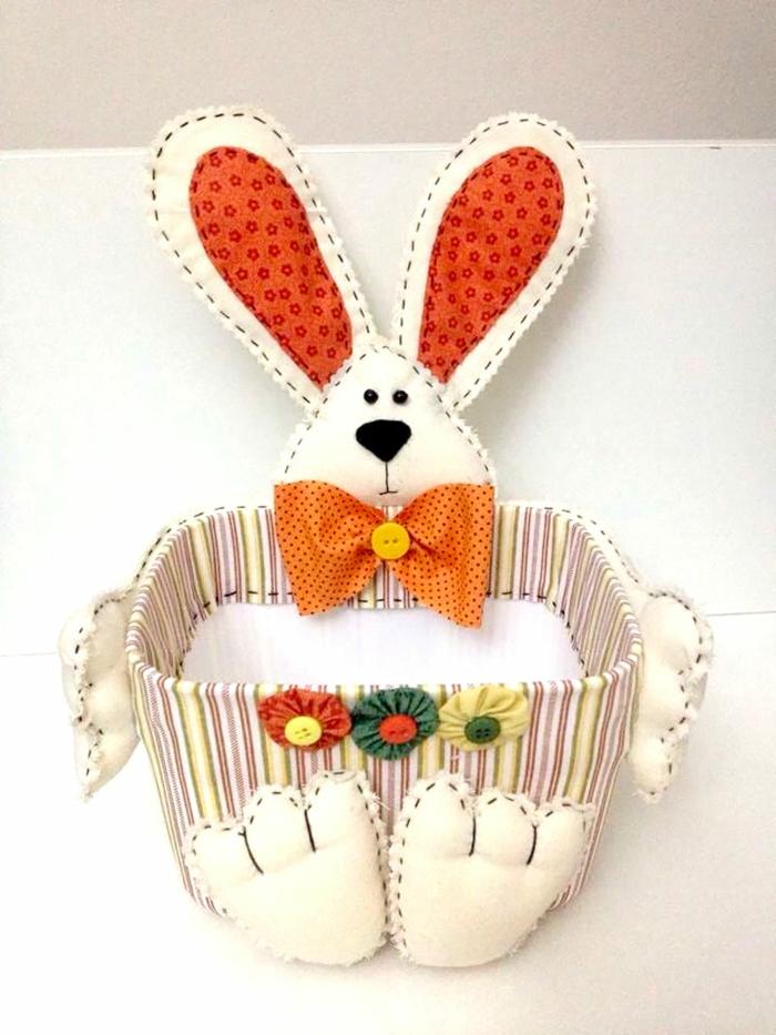panier de Pâques diy déco avec lapin