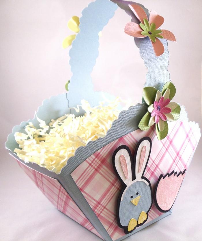 panier de Pâques diy en carton