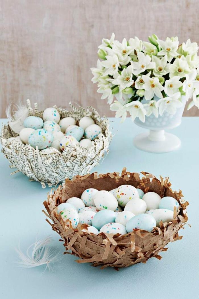 panier de Pâques diy réalisation avec du papier