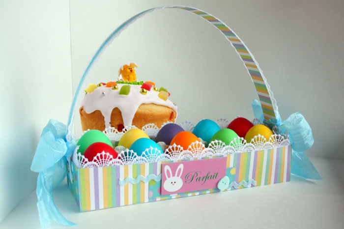 panier de Pâques en carton diy
