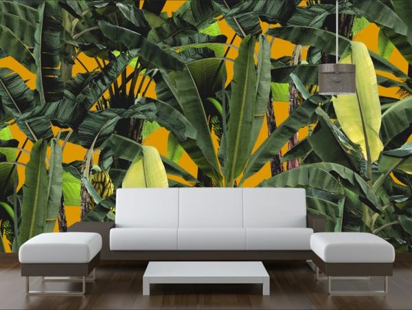 papier peint 3d salon déco jungle