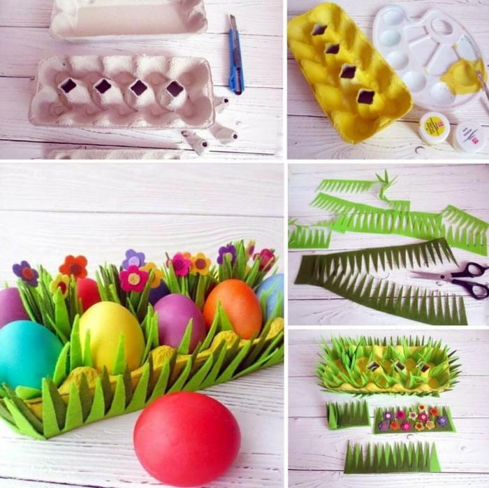 pas à pas panier de Pâques