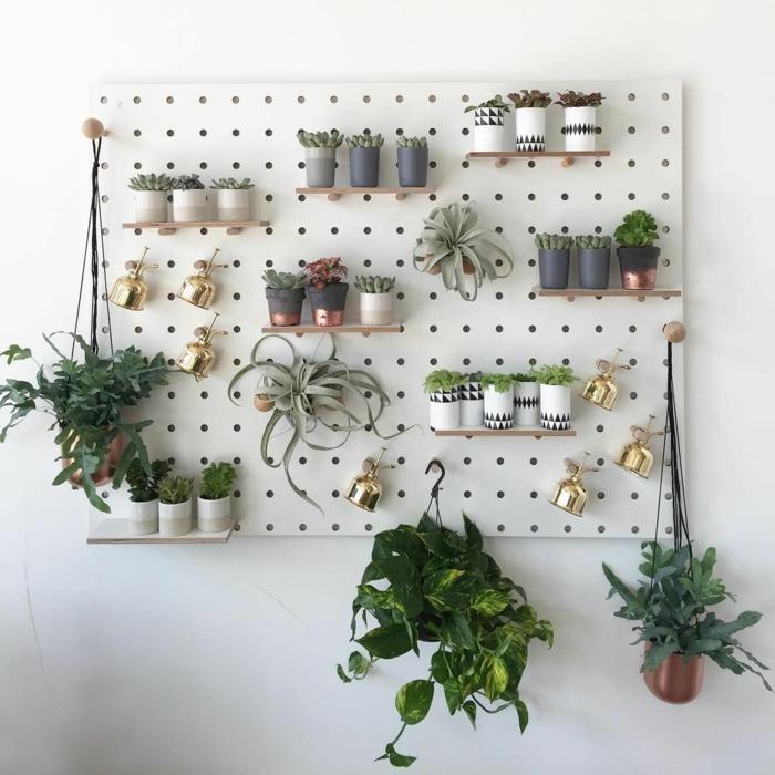 pegboard pour vos plantes
