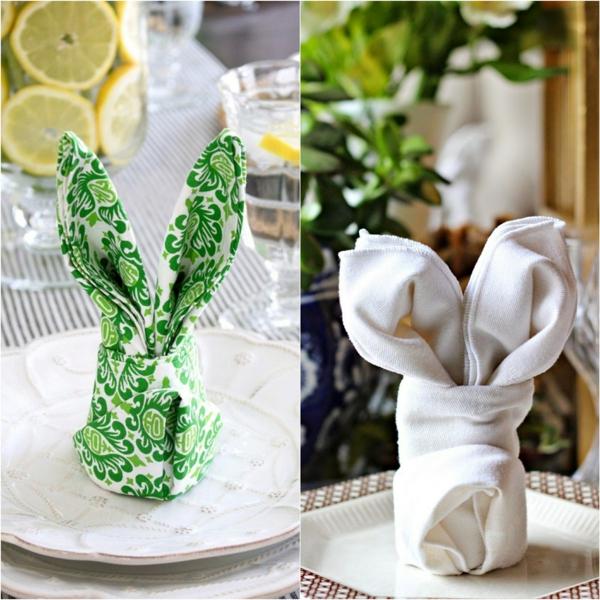 pliage serviette pâques déco d etable lapin