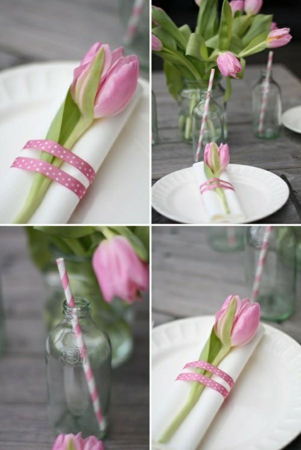 pliage serviette pâques déco tulipe